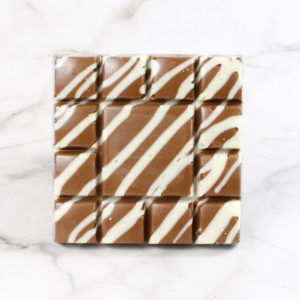 milk chocolate drizzle chunky chocolate square