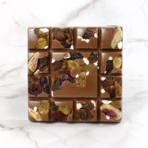 milk chocolate fruit & nut square bar
