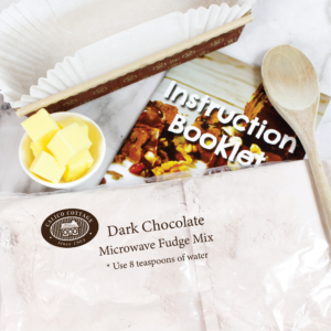 dark chocolate microwave fudge mix