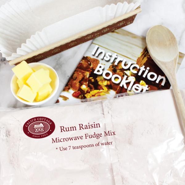 rum and rasin microwave fudge mix