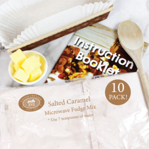 Salted Caramel Microwave Fudge Mix 10 pack