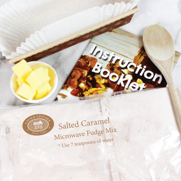 Salted Caramel Microwave Fudge Mix