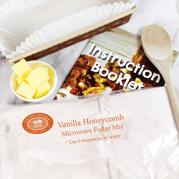 vanilla honeycomb microwave fudge mix