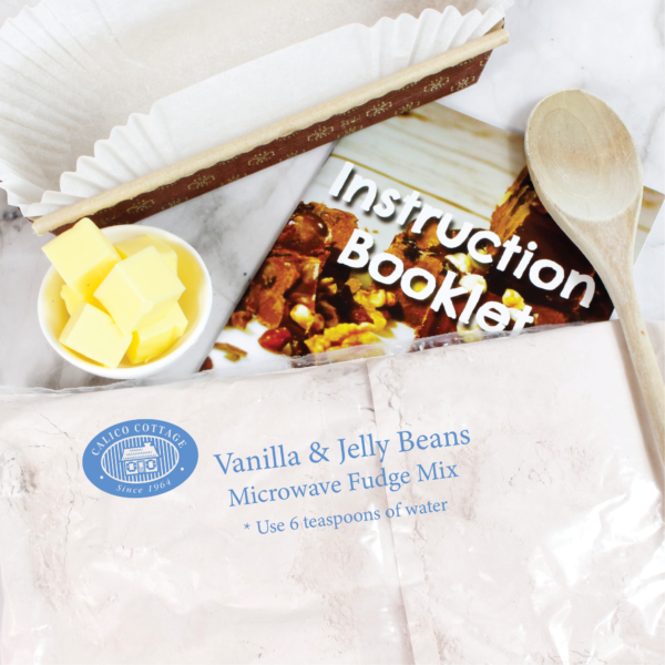 Vanilla Jelly Bean Microwave Fudge Mix